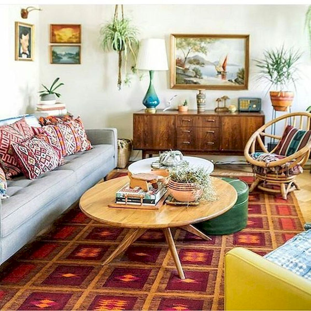 73 Eclectic Living Room Decor Ideas (9)