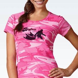 Pink Camo Bigfoot Shirt