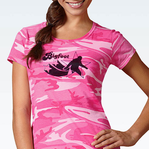 Pink Camo Bigfoot Shirt