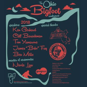 2018 Ohio Bigfoot Conference T-Shirt