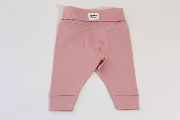 goomo.shop baby leggings pink merino hand made