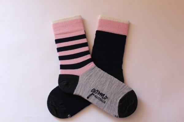 pink navy stripe