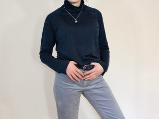 goomo.shop Apollo Navy merino turtleneck