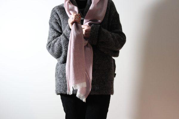 goomo.shop_handmade pure wool gauze thistle scarf