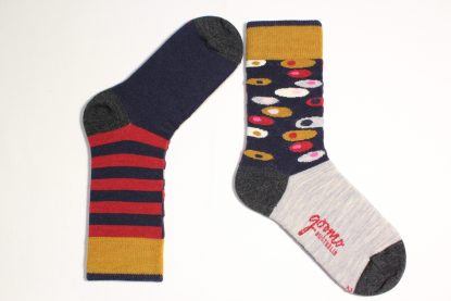 goomo.shop_superfine Australian Merino Egg design socks red