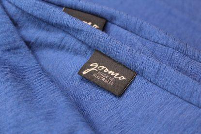 goomo long sleeve cornflour blue top merino