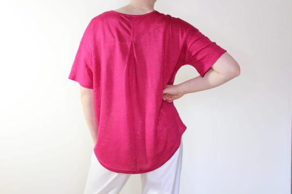 goomo.shop_cerise pure linen short sleeve tee