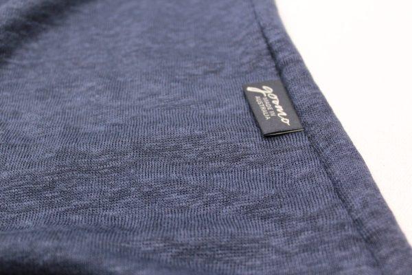 goomo.shop_pure linen Prussian blue short sleeve top
