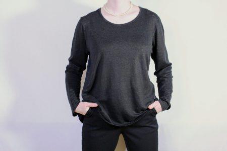 goomo.shop_neko black over dyed linen top