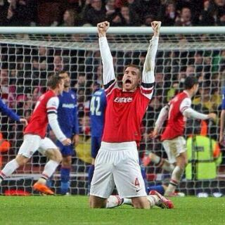 Mertesacker's expression says it all