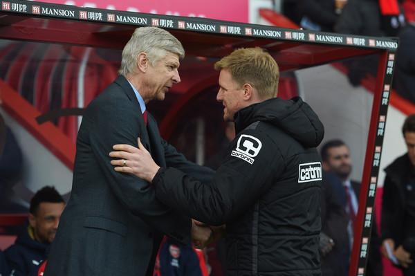 Arsene+Wenger+Eddie+Howe+F+C+Bournemouth+v+WUQMHvjuU0il