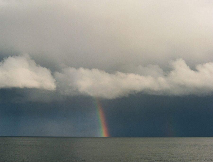 rainbow over ocean