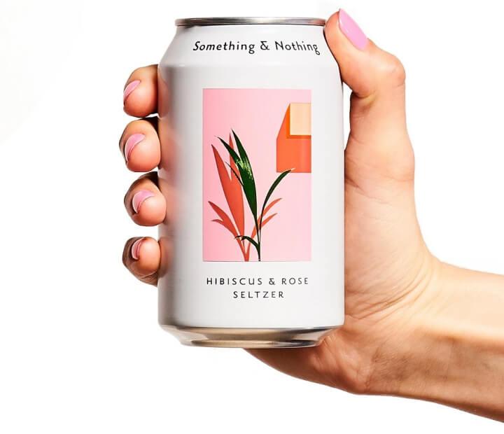 Something & Nothing Hibiscus & Rose soda