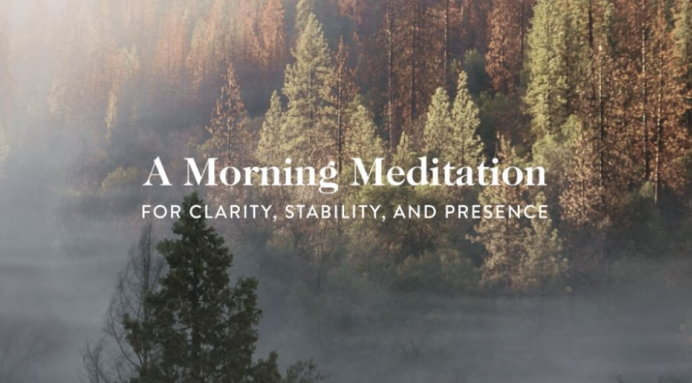 A 10-Minute Guided Meditation for Morning Clarity