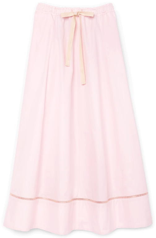 G. Label Louise Drawstring-Waist Midlength Skirt goop, $450