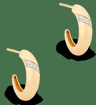 GOOP x MEJURI PAVÉ DIAMOND DÔME HOOPS