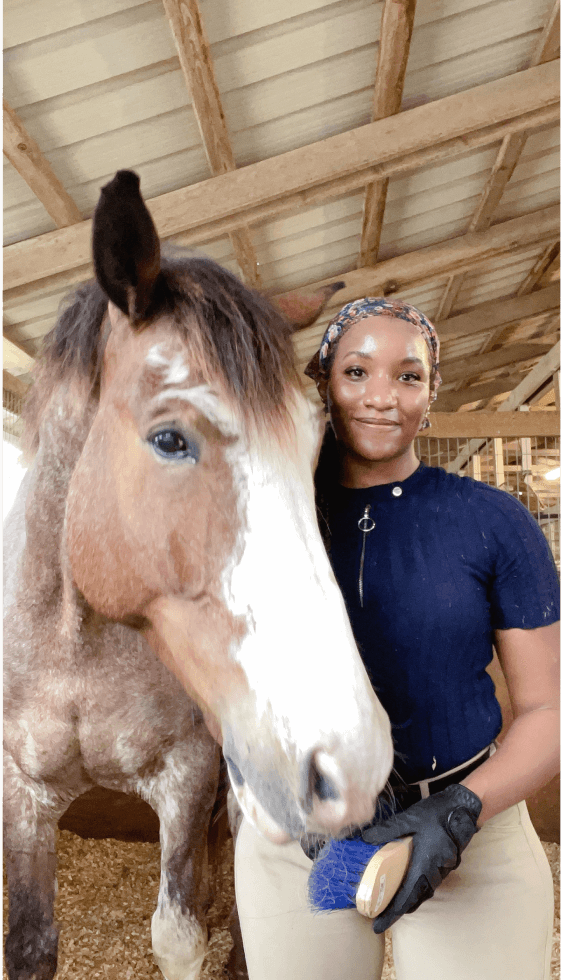 Danielle Prescod with her horse