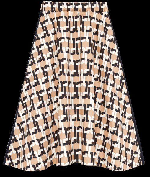 G. LABEL Evie Midlength Printed Skirt, goop, $495