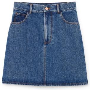 G. Label Harlow A-Line Denim Miniskirt