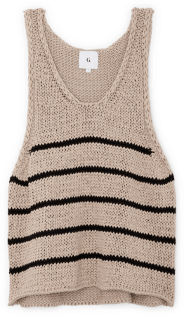 G. Label ERIC CHUNKY KNIT TANK TOP