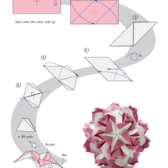 Origami Flower Instruction Diagram Semi Trailer Wiring 7 Way Dorable Plug Wire Modular | An A Day