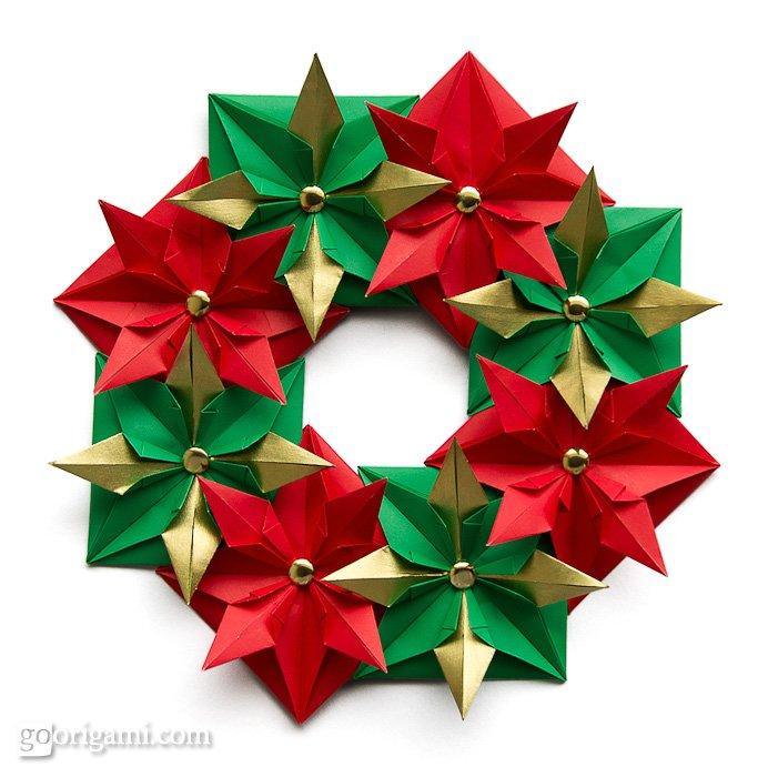 christmas origami diagram 2001 hyundai accent ecu wiring wreath holiday go
