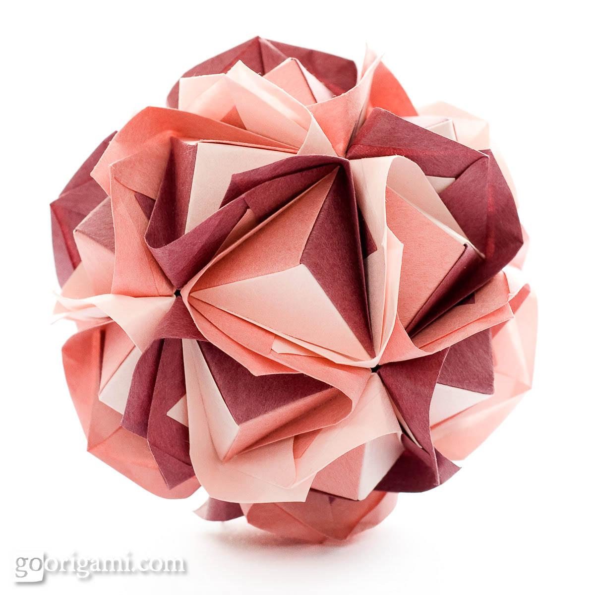 kusudama ball diagram how to wire a transfer switch for generator clover by maria sinayskaya  go origami