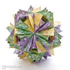 Kusudama Ball Diagram Lewis Dot For Gold Etna By Maria Sinayskaya  Go Origami