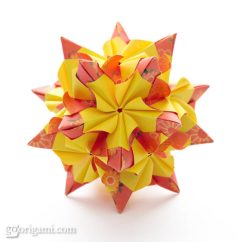 Kusudama Ball Diagram State For Restaurant Management System Chandelle By Maria Sinayskaya — | Go Origami