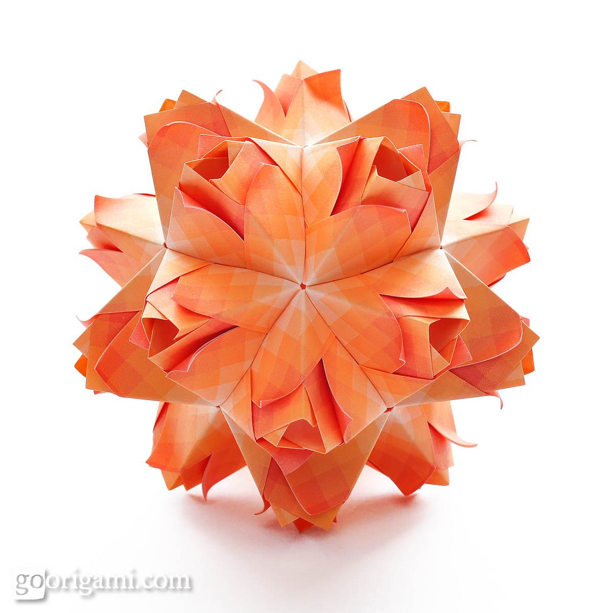 origami hummingbird diagram instructions infrastructure visio caramel kusudama by maria sinayskaya  go