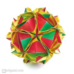Kusudama Ball Diagram Soccer Modular Origami Clover By Maria Sinayskaya  Go