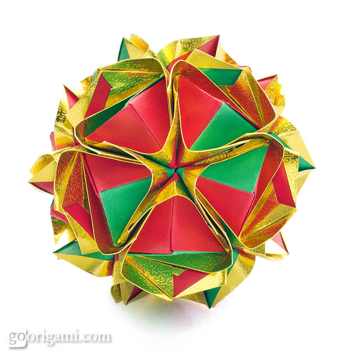soccer ball modular origami diagram of kidney ureter and bladder clover kusudama by maria sinayskaya  go