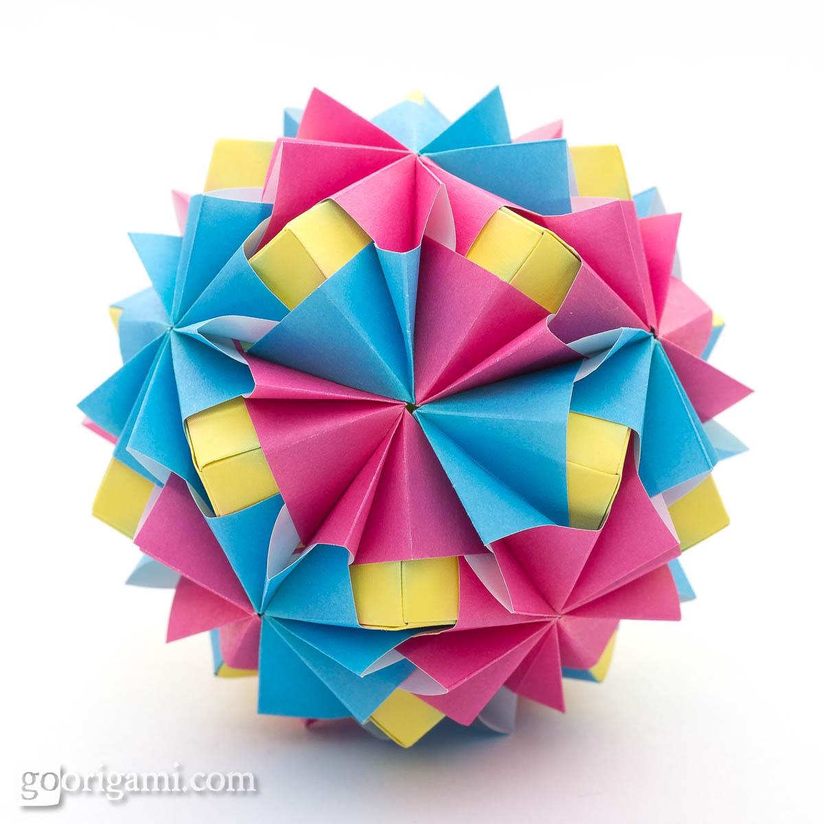 kusudama ball diagram traxxas grave digger parts waltz sonobe by maria sinayskaya  go origami