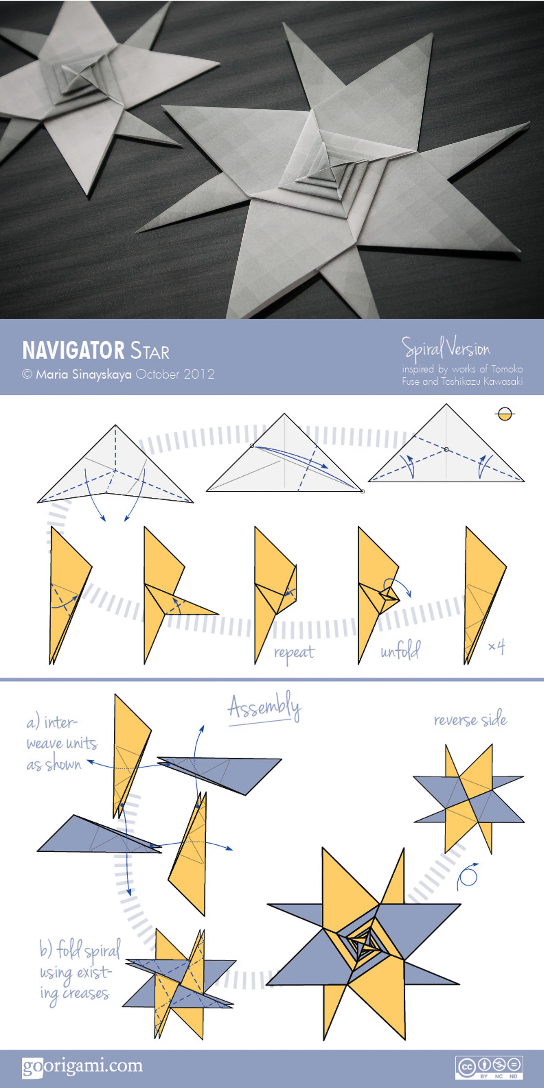 star flower origami diagram simple thermistor circuit navigator by maria sinayskaya go spiral variation