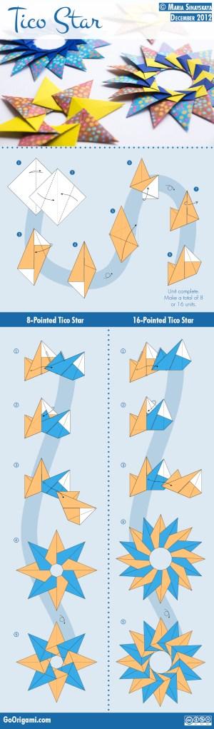 Tico Star by Maria Sinayskaya — Diagram   Go Origami