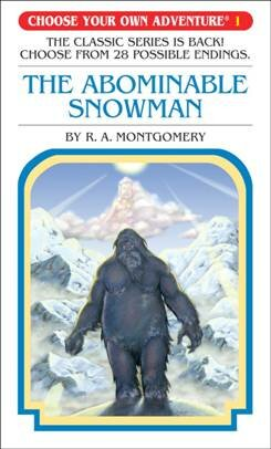 abominable snow man choose your own adventure