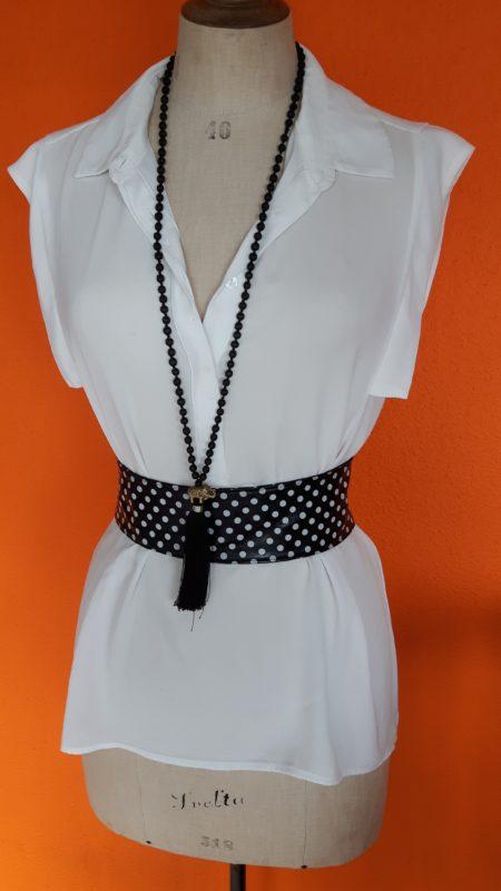witte blouse Mango,goosvintage,blouse Mango,tweedehands blouse Mango,vintagekleding,goosvintagevught