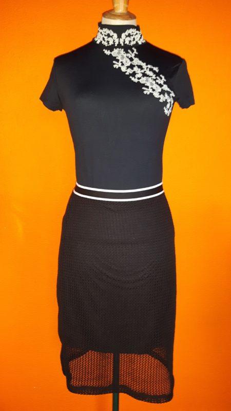 Vintage zwarte rok Coolcat,goosvintage