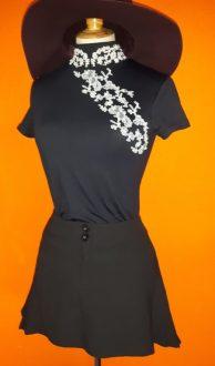 Vintage zwart minirokje Dept,goosvintage