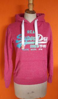 Vintage roze hoodie Superdry maat XS-S,goosvintage