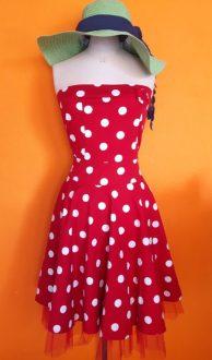 Vintage rockabilly polkadot jurk Rinasmimento maat S,Goosvintage
