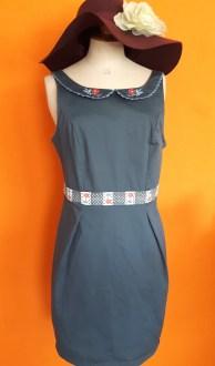 Vintage blauwe jurk Blutsgeschwister maat M,Goosvintage
