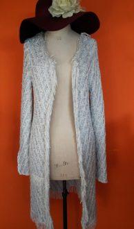Vintage lang gebreid vest Question? maat S,Goosvintage