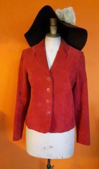 Vintage rood leren jasje Arma maat S,goosvintage