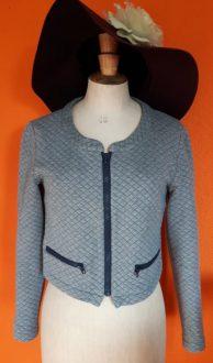 Vintage grijs vestje Supertrash maat M,Goosvintage
