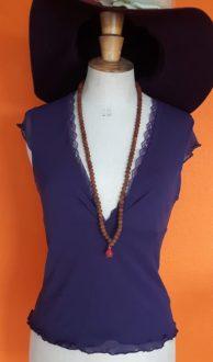 Vintage paars topje Sissy Boy S/M,Goosvintage