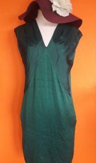 Vintage groene jurk Spijkers en Spijkers by Claudia Sträter maat 38,Goosvintage