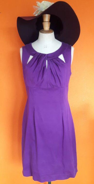 Vintage paarse jurk Made in Italy maat S,Goosvintage