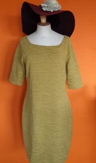 Vintage okergele jurk Kyra & Ko maat L/XL,Goosvintage