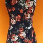 vintage zwarte bloemenjurk MNG Collection S/M,Goosvintage